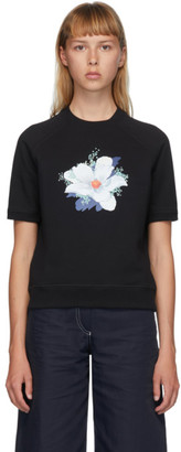 Kenzo Black Vans Edition Floral Short Sleeve Sweatshirt