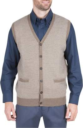Haggar Houndstooth Sweater Vest