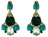 Oscar de la Renta Crystal & Resin Drop Earrings