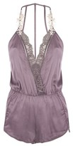 Topshop Lace And Satin Pyjama Teddy