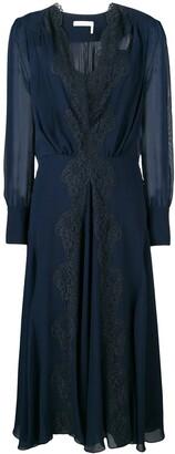 Chloé lace-trimmed dress