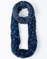 Le Château Anchor Print Voile Infinity Scarf