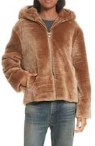 Vince Women's Genuine Shearling Hoodie