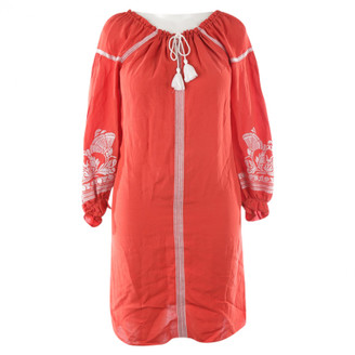 Maje Red Cotton Dresses