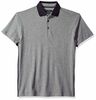 French Connection Men's Short Sleeve Solid Color Regular Fit Polo Shirt