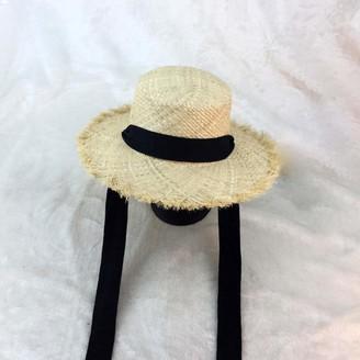 ljpxbb Summer Women Beach Black White Ribbon Hat Bow Hat Temperament Flat Cap Straw Hats Women S Seaside Hat-1_56-59Cm