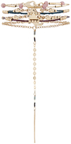 Accessorize Delicate Beaded Hand Chain Bracelet Pack