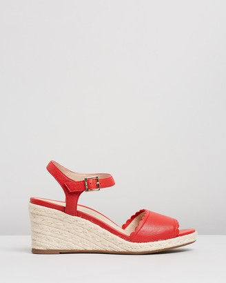 Vionic Women's Red Sandals - Stephany Wedges - Size One Size, 5 at The Iconic