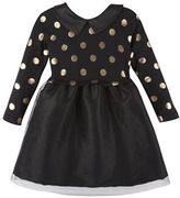 Andy & Evan Baby Girls Dotted Dress