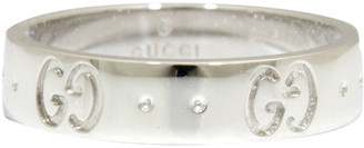 Gucci Icon 18K White Gold Ring Band Size 47