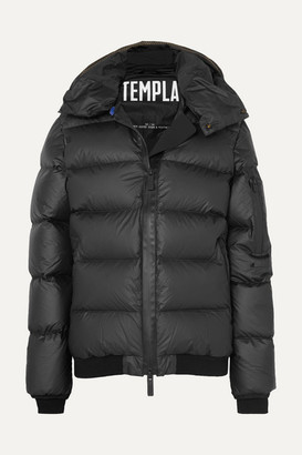 TEMPLA Membra Hooded Quilted Shell Down Jacket - Black