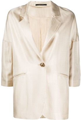 Tagliatore Oversized One-Button Blazer