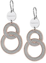 "Rebecca Soleil"" Two-Tone Gold White Shimmering Overlay Small Drop Earrings"