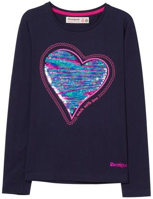Desigual Girl's Ts_Sequins T-Shirt