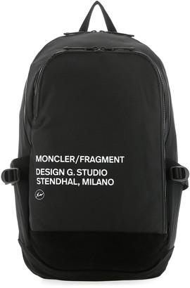 MONCLER GENIUS Moncler X Fragment Hiroshi Fujiwara Logo Backpack