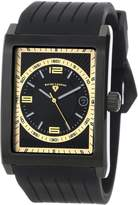 Swiss Legend Men's 40012-BB-01-GA Limousine Textured Dial Silicone Watch
