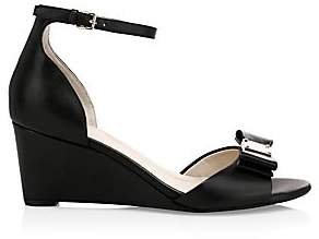 Cole Haan Women's Tali Grand Bow Leather Platform Wedge Sandals