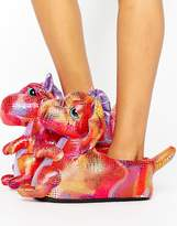 Loungeable Pink Dragon Slipper