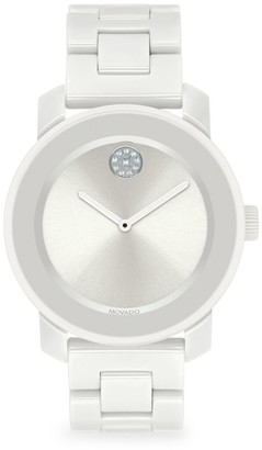 Movado BOLD Swiss Quartz White Ceramic Bracelet Watch