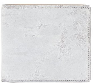 Maison Margiela Bar-tack Painted-suede Bi-fold Wallet - White