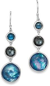 Ippolita Sterling Silver Lollipop Lapis Triplet, London Blue Topaz & Hematite Drop Earrings in Eclipse