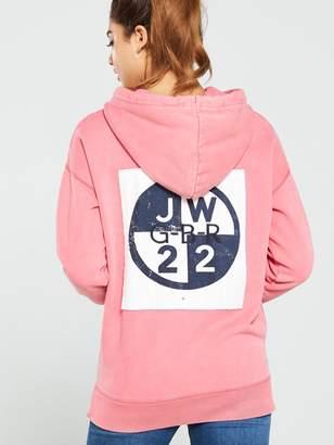 Jack Wills Homesworth Boyfriend Hoodie- Pink
