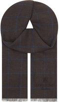 Corneliani Contrast Check Cashmere-silk Blend Scarf