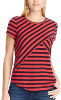 Chaps Women's Striped Crewneck Tee
