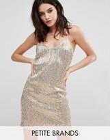 New Look Petite All Over Sequin Mini Dress