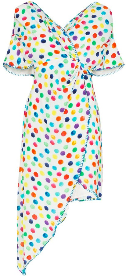 All Things Mochi Camila polka-dot wrap dress