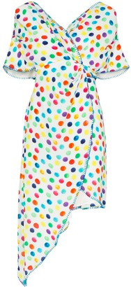 All Things Mochi Camila polka-dot wrap dress