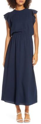 Elizabeth Crosby Ruffle Sleeve Blouson Dress
