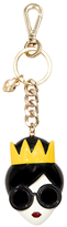 Alice + Olivia Stace Face With Crown Key Charm