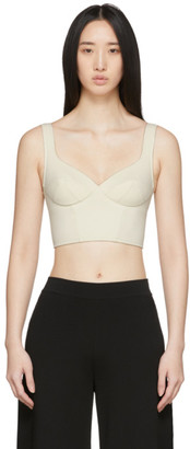 Ernest Leoty Off-White Jade Crop Top