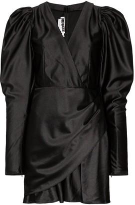 Rotate by Birger Christensen puff-sleeve V-neck mini dress