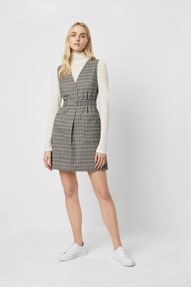 French Connection Amati Check V Neck Dress
