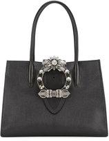 Miu Miu crystal embellished top handle tote - women - Calf Leather - One Size