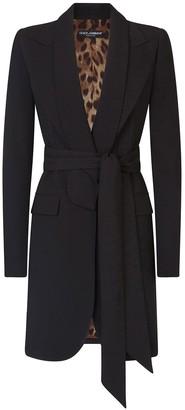 Dolce & Gabbana Belted Jacket-Style Coat
