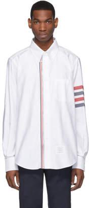 Thom Browne White Zip Front 4-Bar Shirt