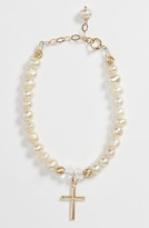Abela Designs Freshwater Pearl Bracelet (Girls) White/ Gold