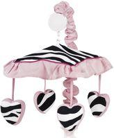 JoJo Designs Sweet Funky Zebra Musical Mobile in Pink
