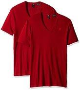 G Star Men's Base Short Sleeve V-Neck T-Shirt 2-Pack