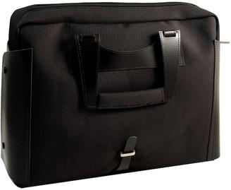 Bey-Berk Bey Berk Black Leather & Ballistic Nylon Briefcase