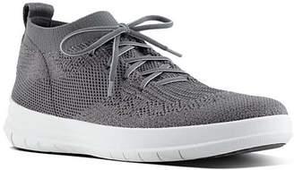FitFlop Women's Sneakers Charcoal/Metallic - Charcoal & Metallic Pewter Uberknit High-Top Sneaker - Women
