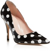 Kate Spade Licorice Polka Dot Pointed Toe High Heel Pumps