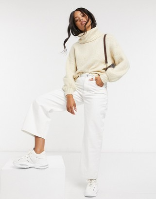 Cotton On Cotton:On roll neck knitted jumper in cream
