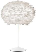 EOS Umage UMAGE - Medium White Feather With White Stand Table Lamp - White
