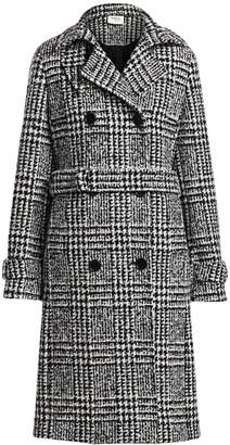 Akris Punto Glen Check Stretch Wool Trench Coat