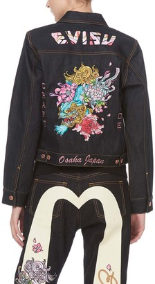 Evisu Kirin Embroidered Denim Jacket