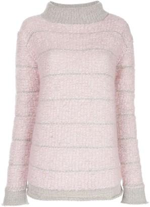 Eckhaus Latta Roll-Neck Boucle-Knit Sweater